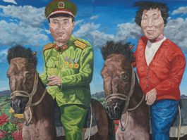Liu Wei-Revolutionary Family Series: Travel Time (Diptych)-1993