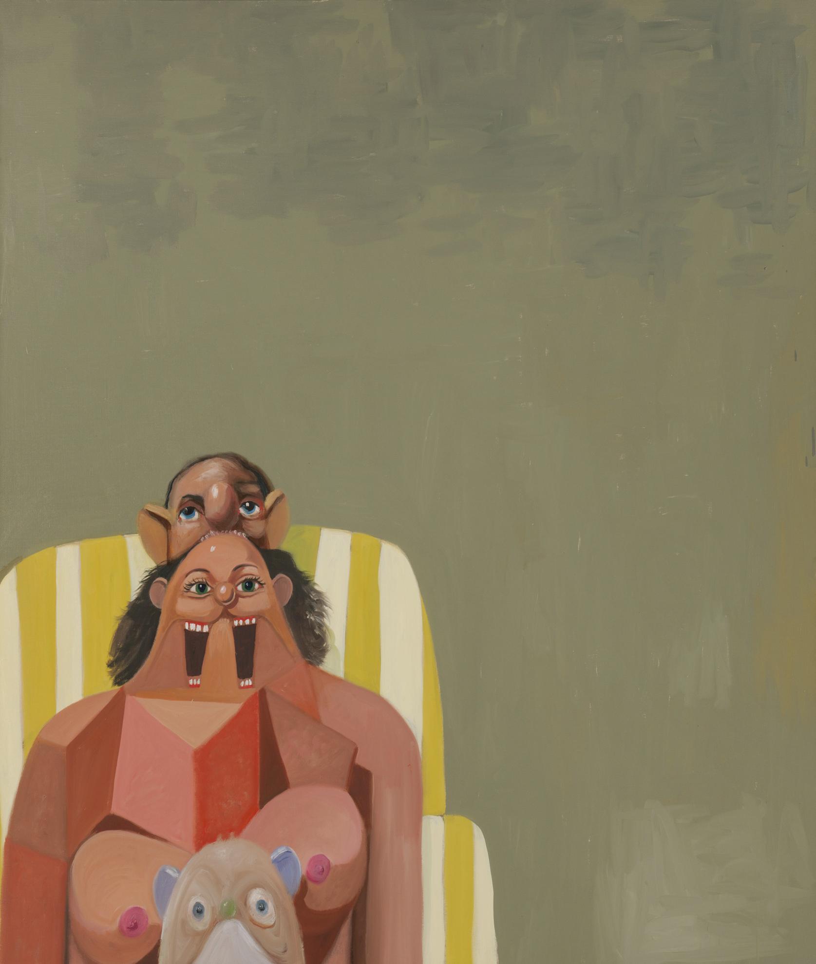George Condo-Green Seated Woman-2006