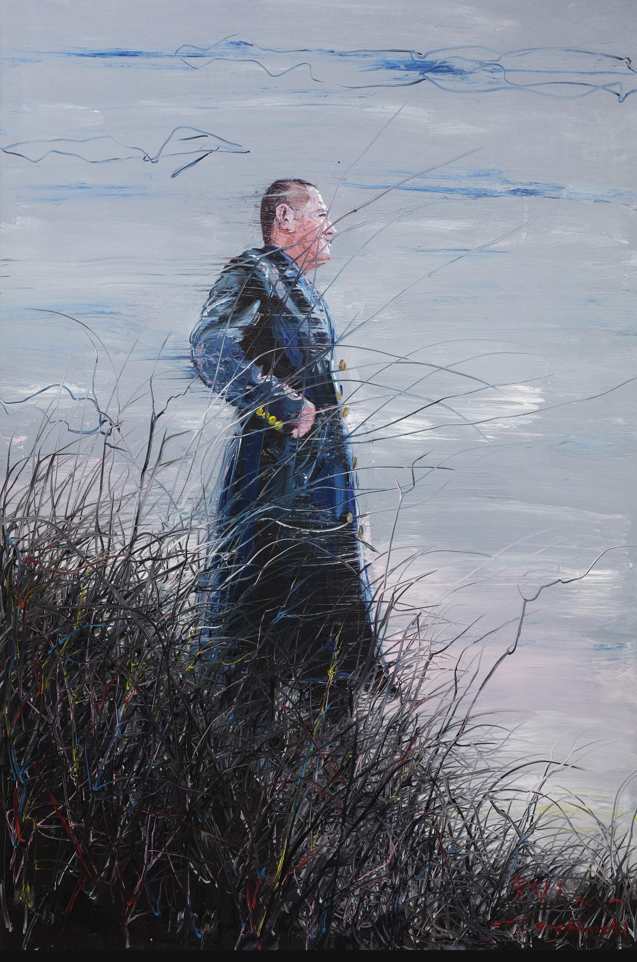 Zeng Fanzhi-Sky Series: Self-Portrait-2005