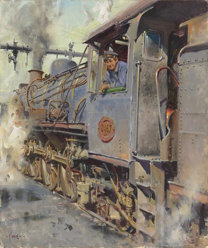 Terence Cuneo-Portrait Of A Fireman-