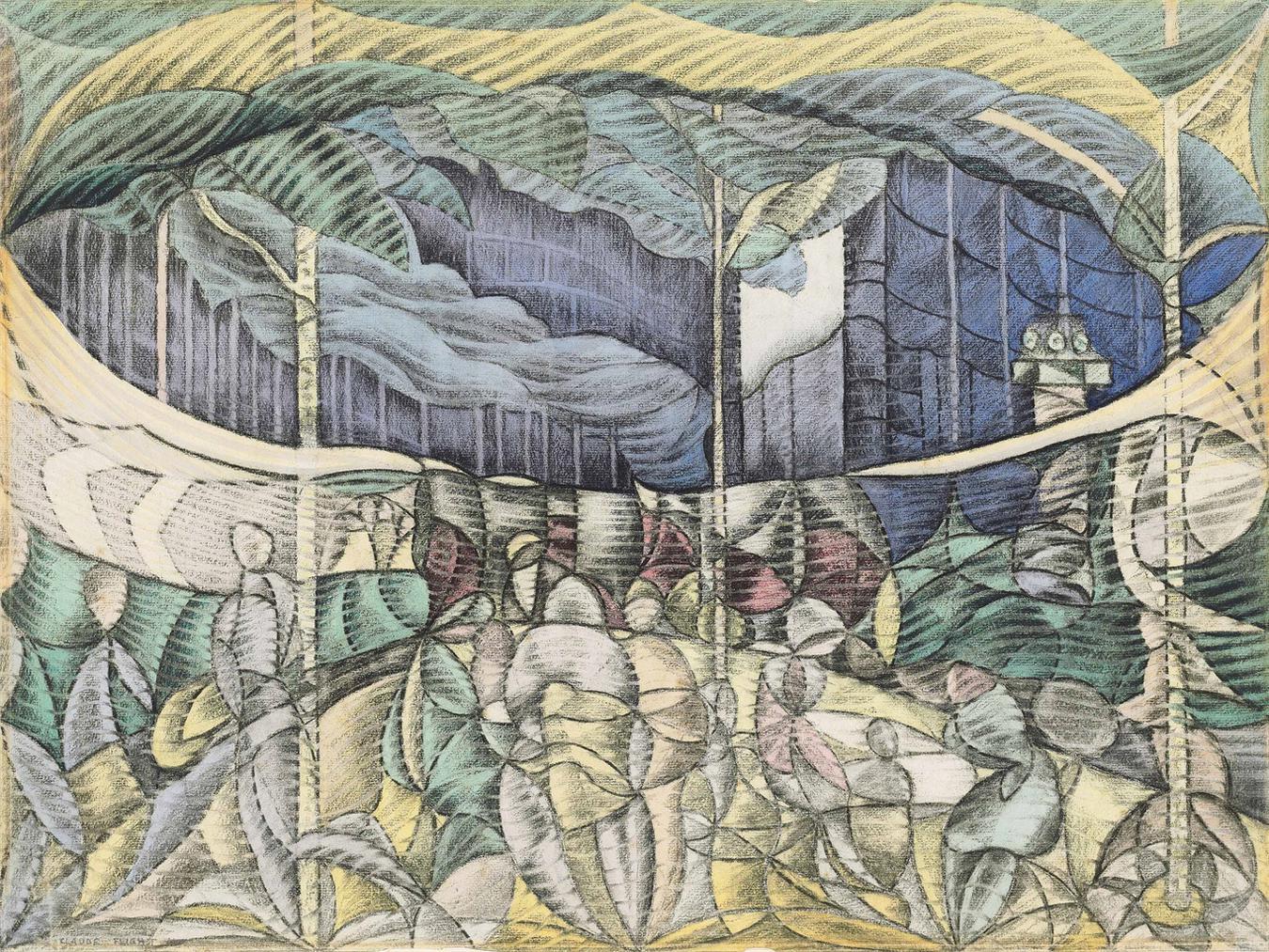 Claude Flight-The Park-1922