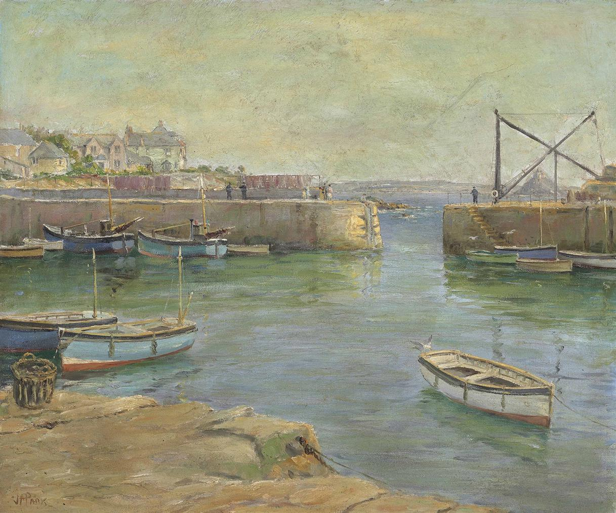 John Anthony Park - The Mousehole Harbour Cornwall-