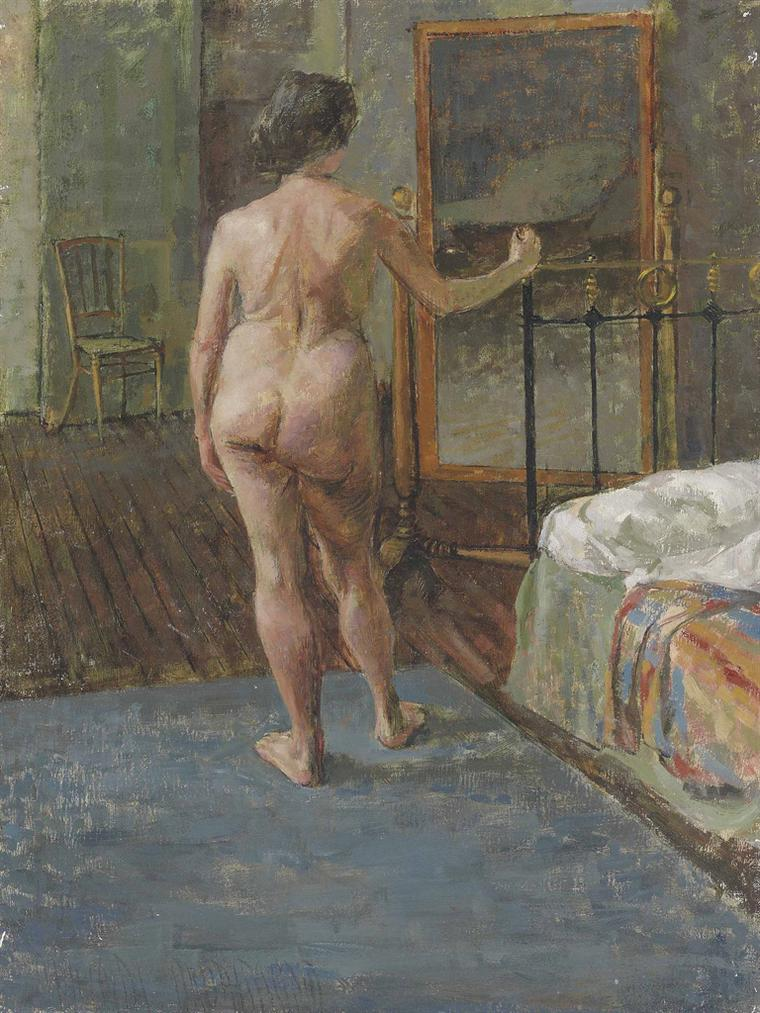 Malcolm Drummond - Nude In An Interior-
