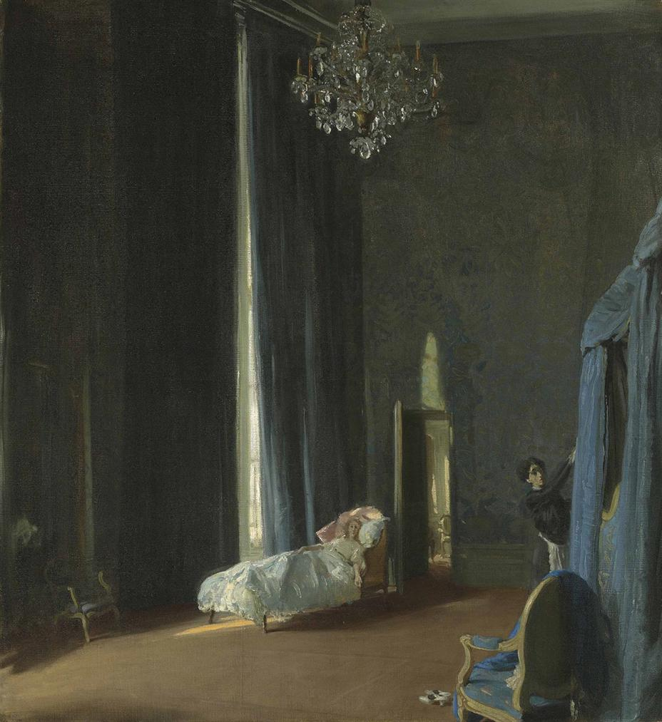 William Nicholson-The Convalescent: Gertrude Vanderbilt Whitney In Paris-1914
