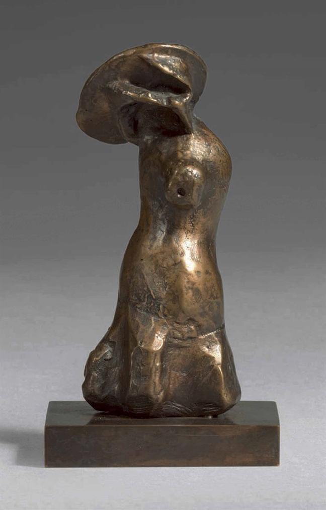 Henry Moore-Bonnet Figure-1982