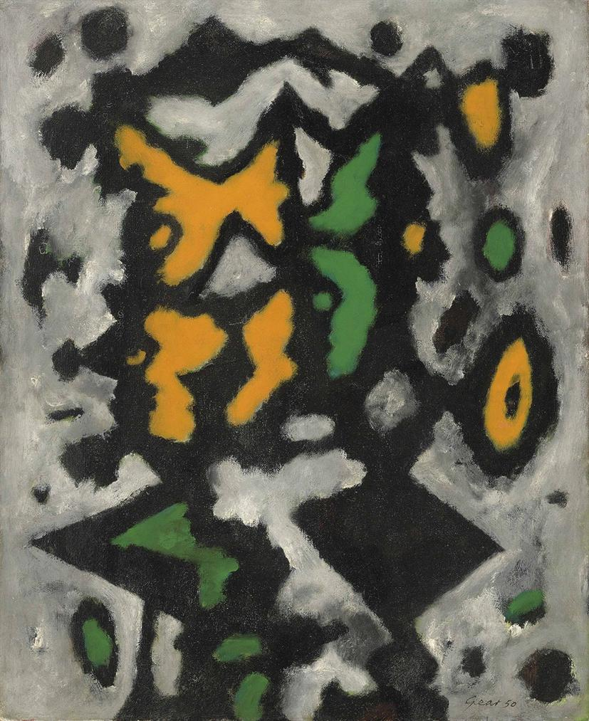 William Gear-Paysage, Nice-1950