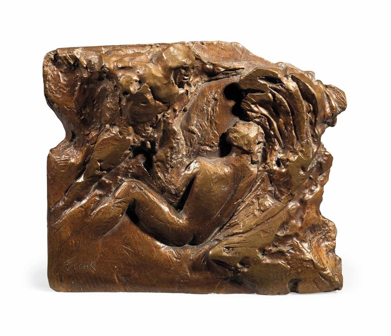 Elisabeth Frink-Bronze Plaque (Maquette For Man And Eagle Relief)-1967