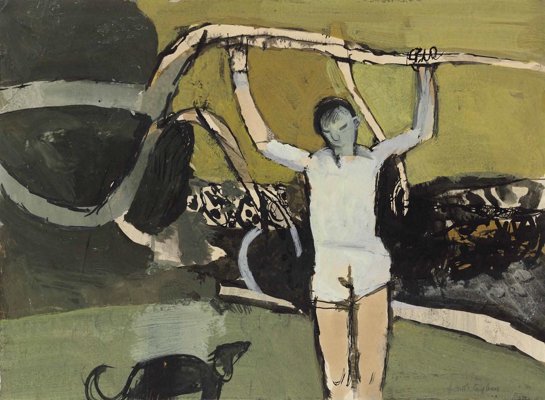 Keith Vaughan-Figure And Trees III-