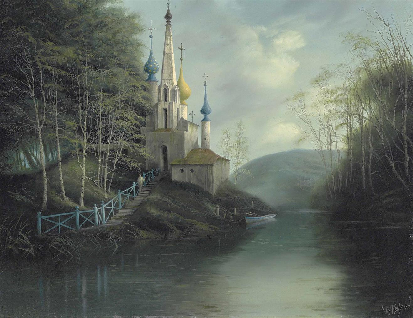 Felix Kelly - Country Church-1970
