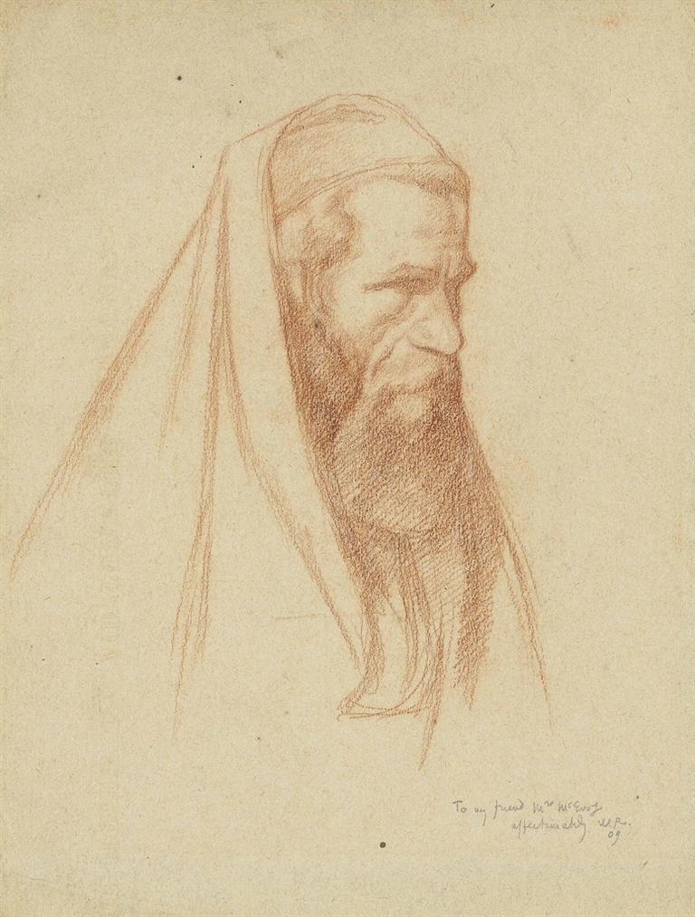 William Rothenstein-Study Of A Pious Jew-2009