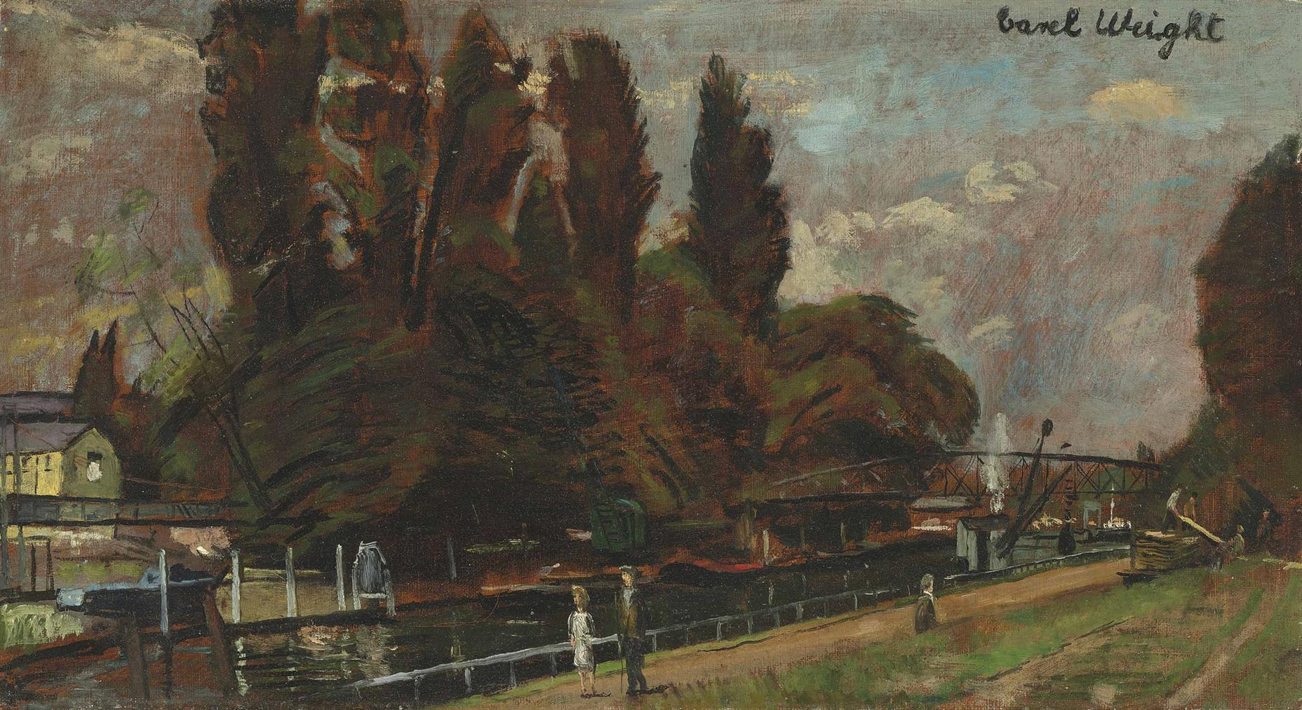Carel Weight-Along The Thames-