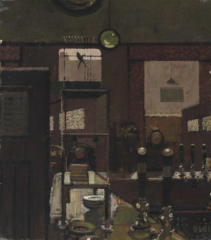 Ruskin Spear-Public Bar (Study For Mr. Hollingberrys Canary)-1962