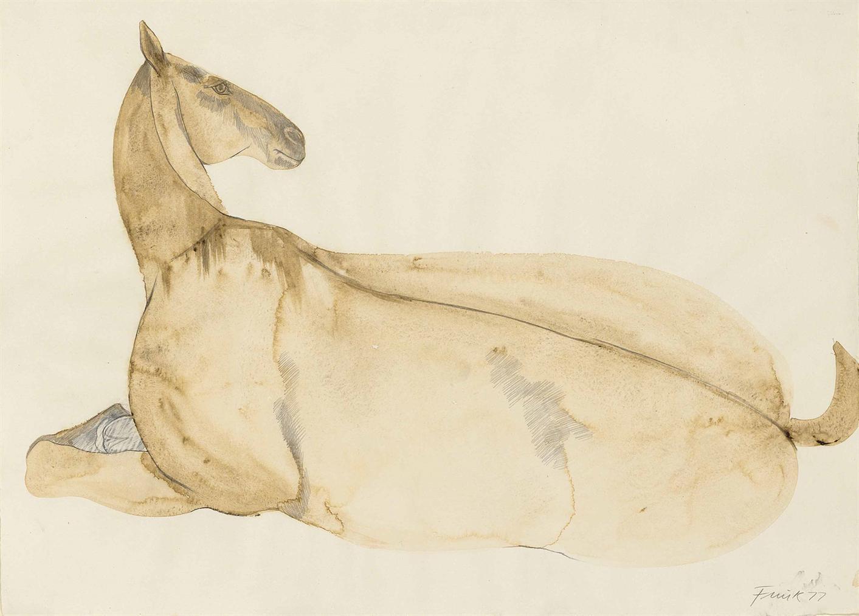 Elisabeth Frink-Lying Down Horse-1977