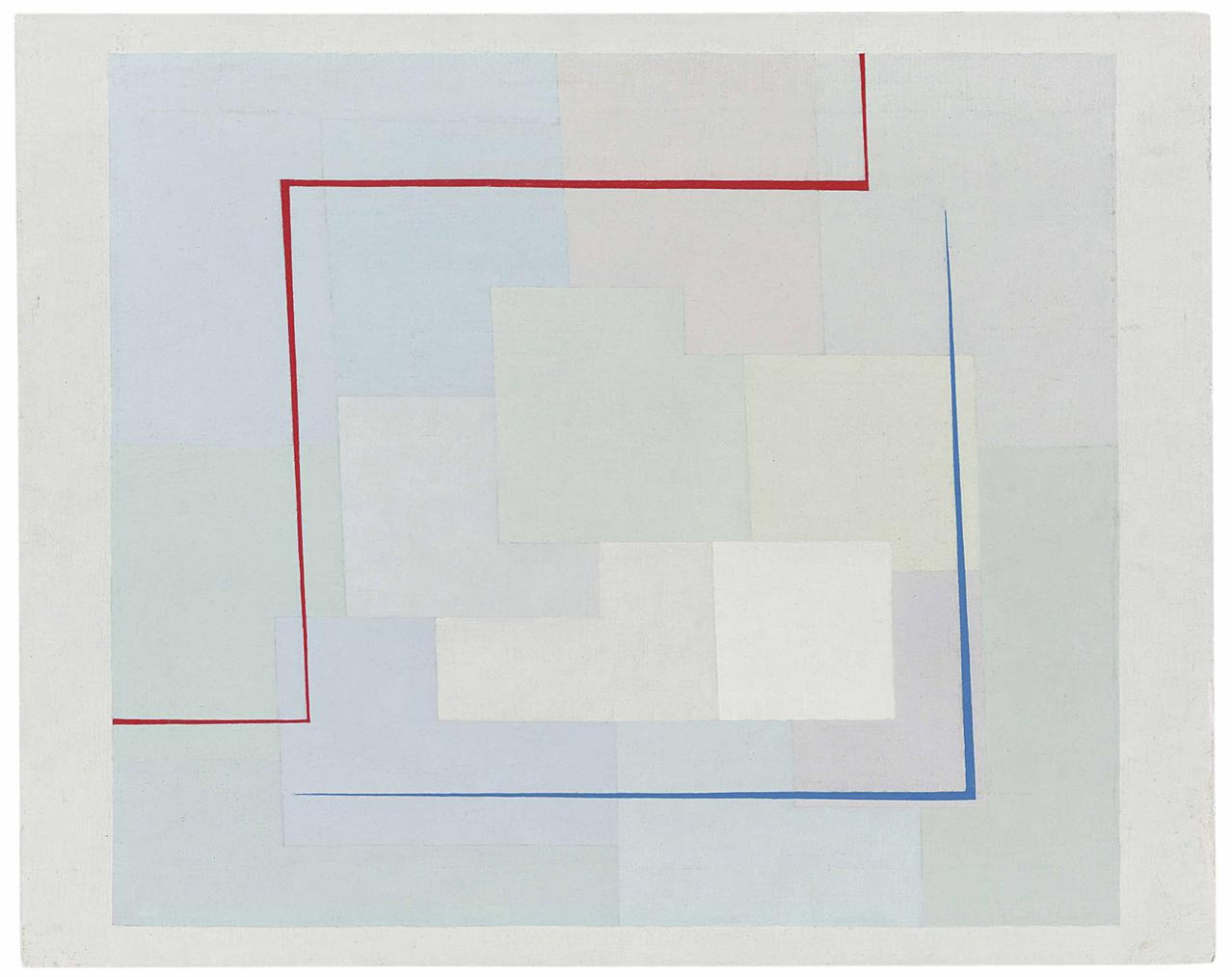 Alastair Morton-Opus 9 Red And Blue Stripes 1937-1937