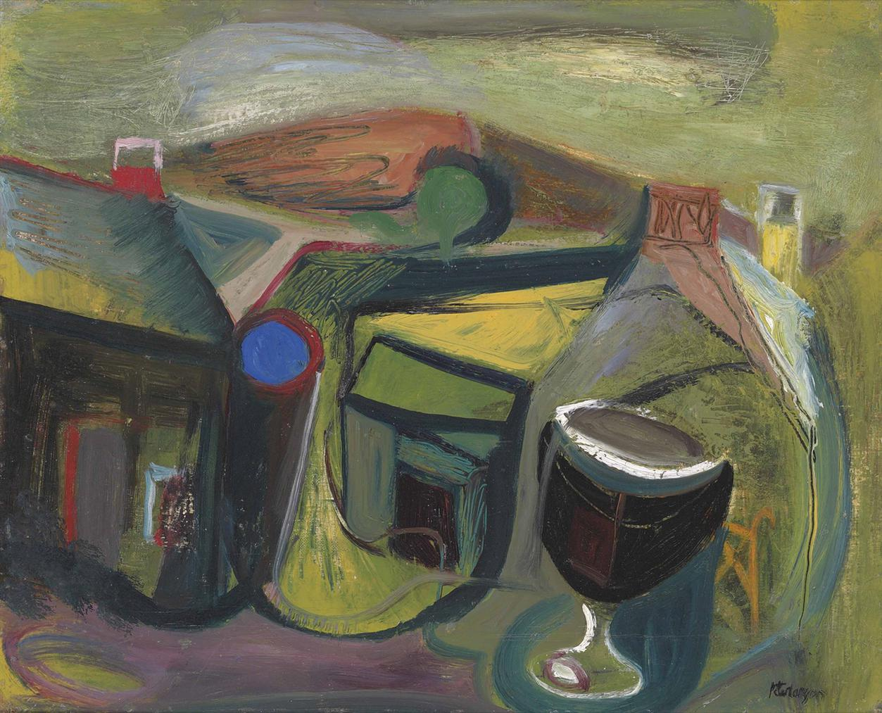 Peter Lanyon-Landscape And Cup (Annunciation)-1946