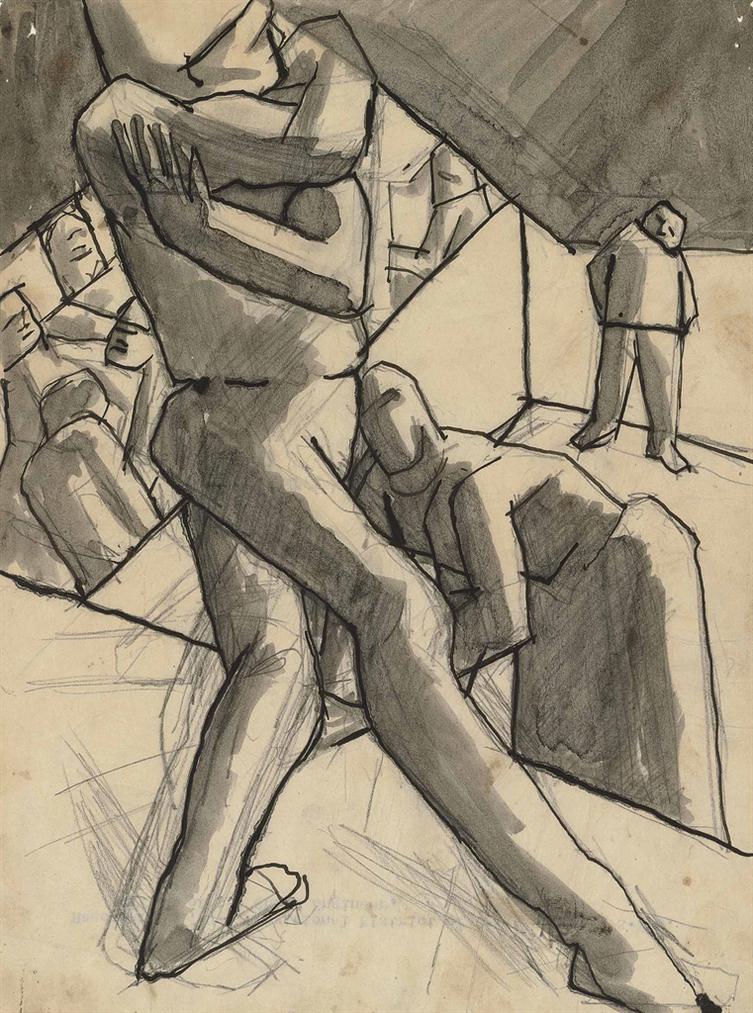 David Bomberg-The Players-1919