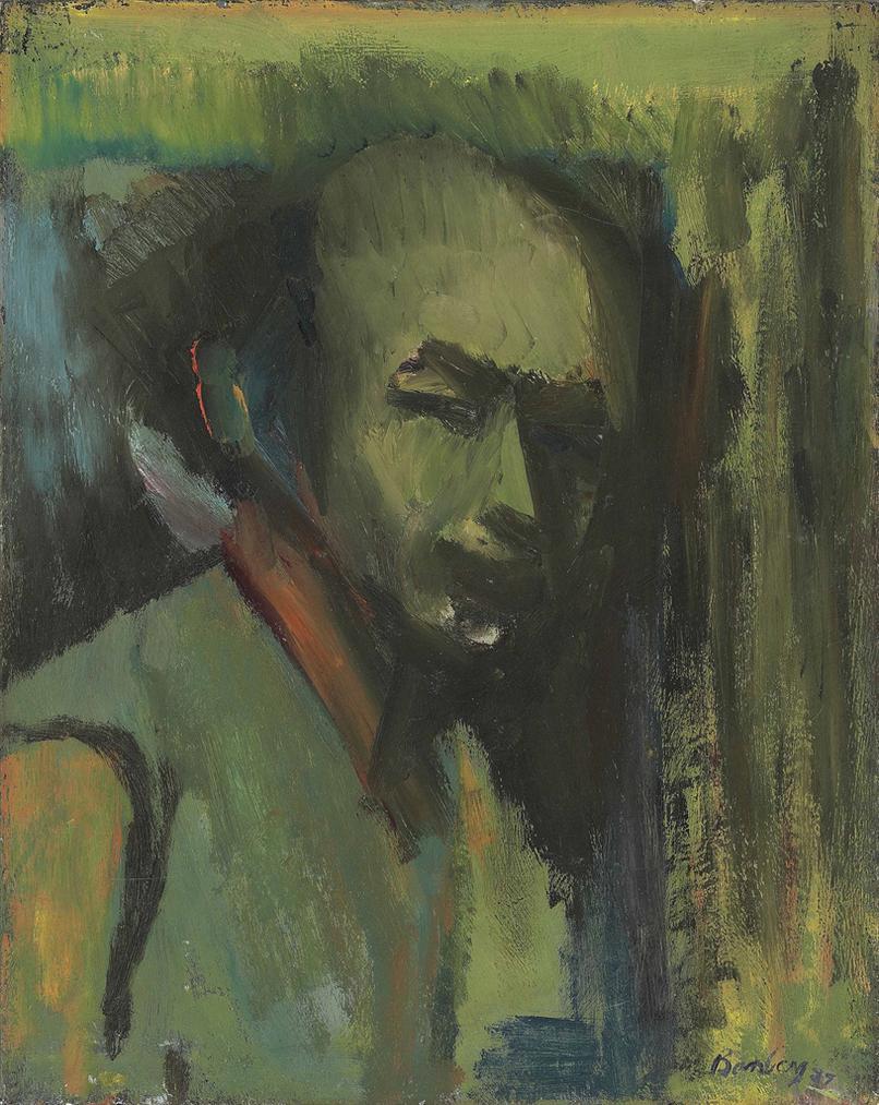 David Bomberg-Self Portrait (Green Jacket)-1937