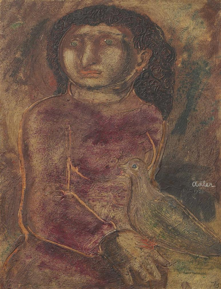 Jankel Adler-Woman With Dove-1929