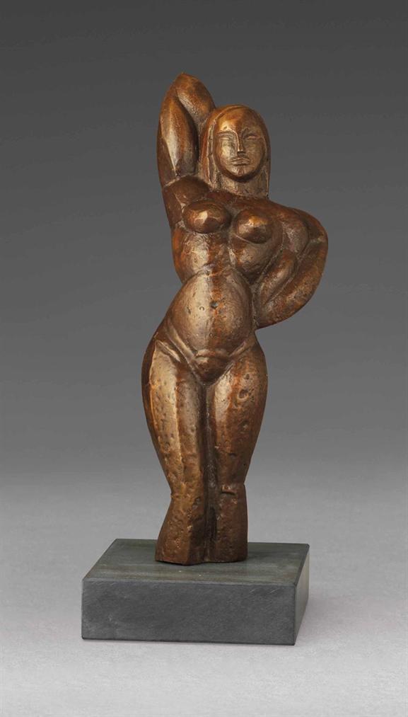 John Duncan Fergusson-Standing Nude-1919