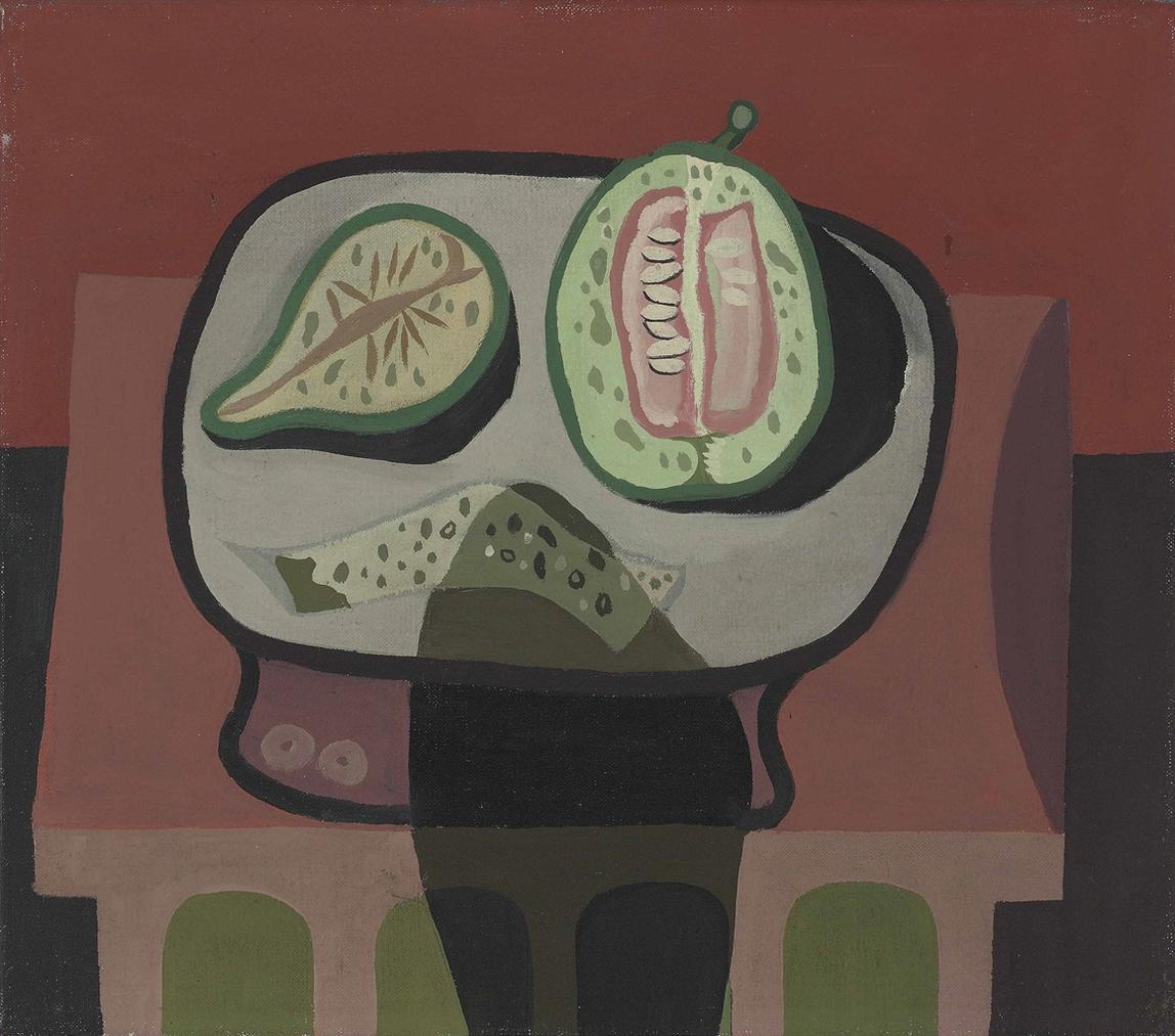 Robert MacBryde-Indian Red Still Life-