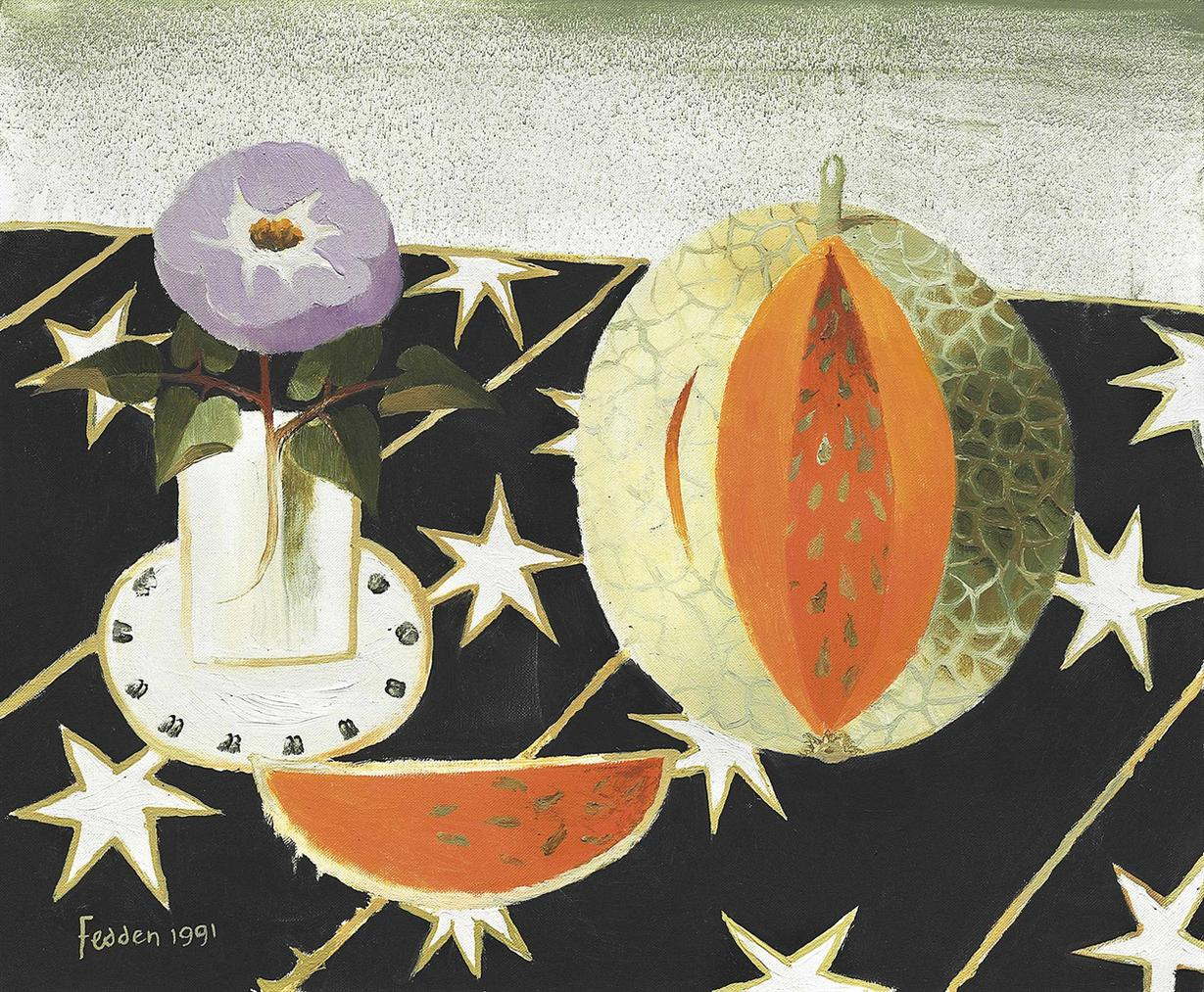 Mary Fedden-A Slice Of Melon-1991