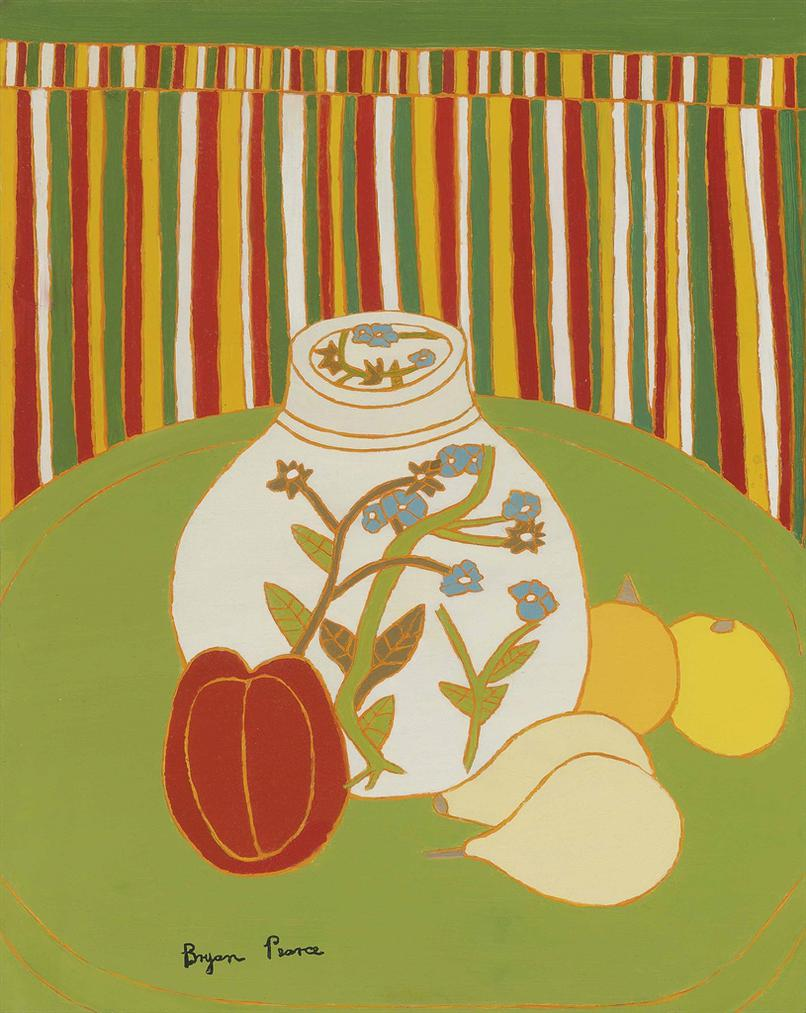 Bryan Pearce-Tea Caddy With Gourds-
