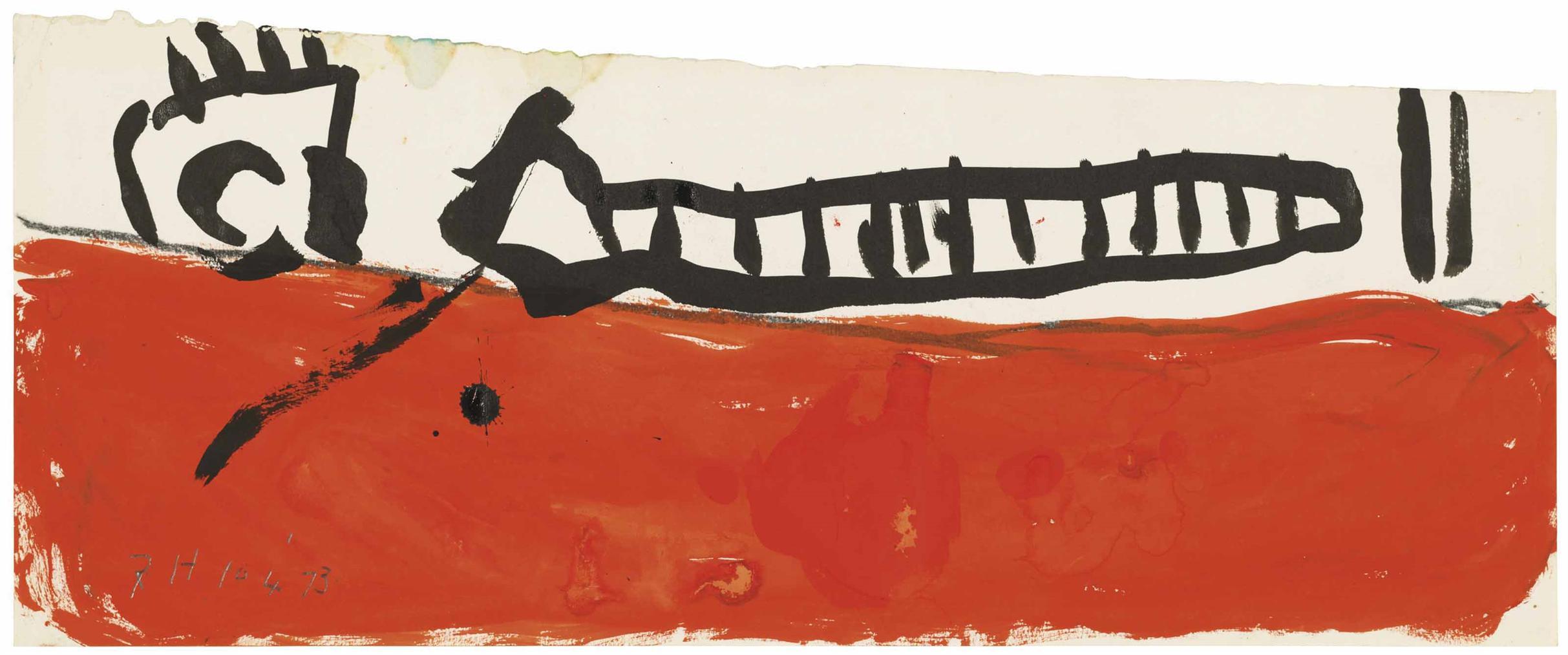 Roger Hilton-Untitled, April 1973-1973