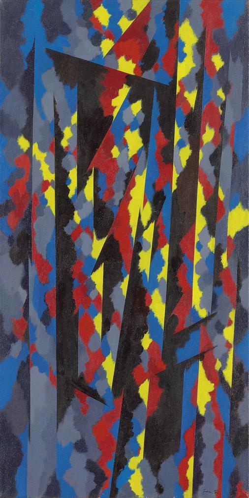 William Gear-Vertical Red/Yellow-1966