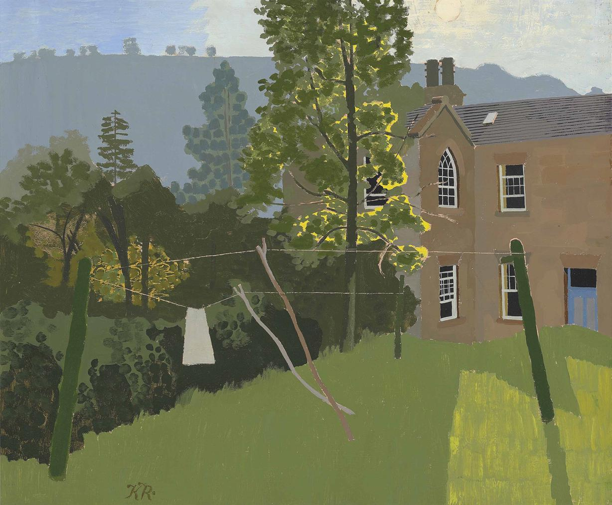 Kenneth Rowntree - Grove House, Levisham Evening-1954