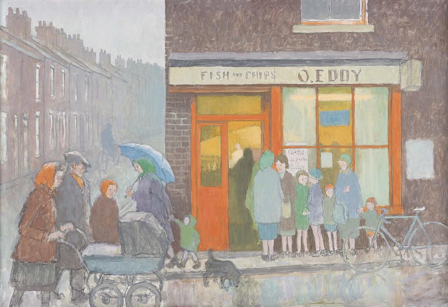 Norman Cornish - Eddys Fish And Chip Shop-