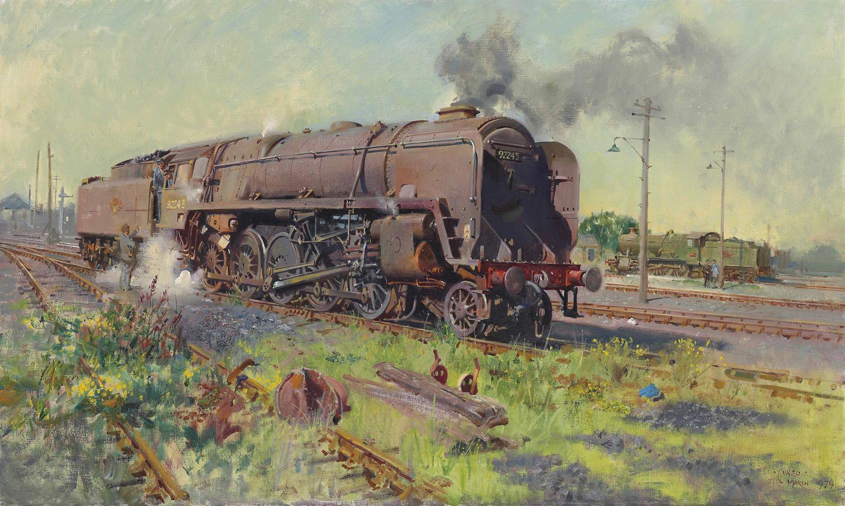 Terence Cuneo-Autumn Of Steam-1979
