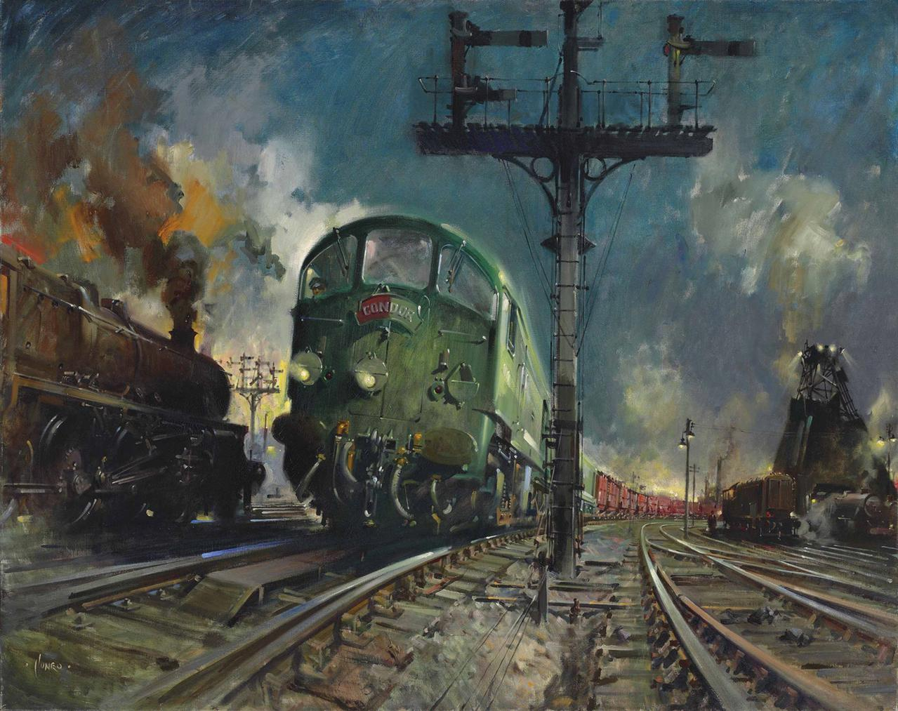 Terence Cuneo-Night Freight (Condor)-1960