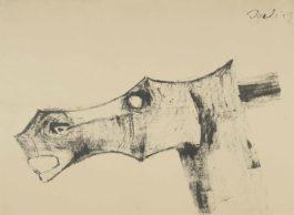 Tyeb Mehta-Head Of A Horse-1959