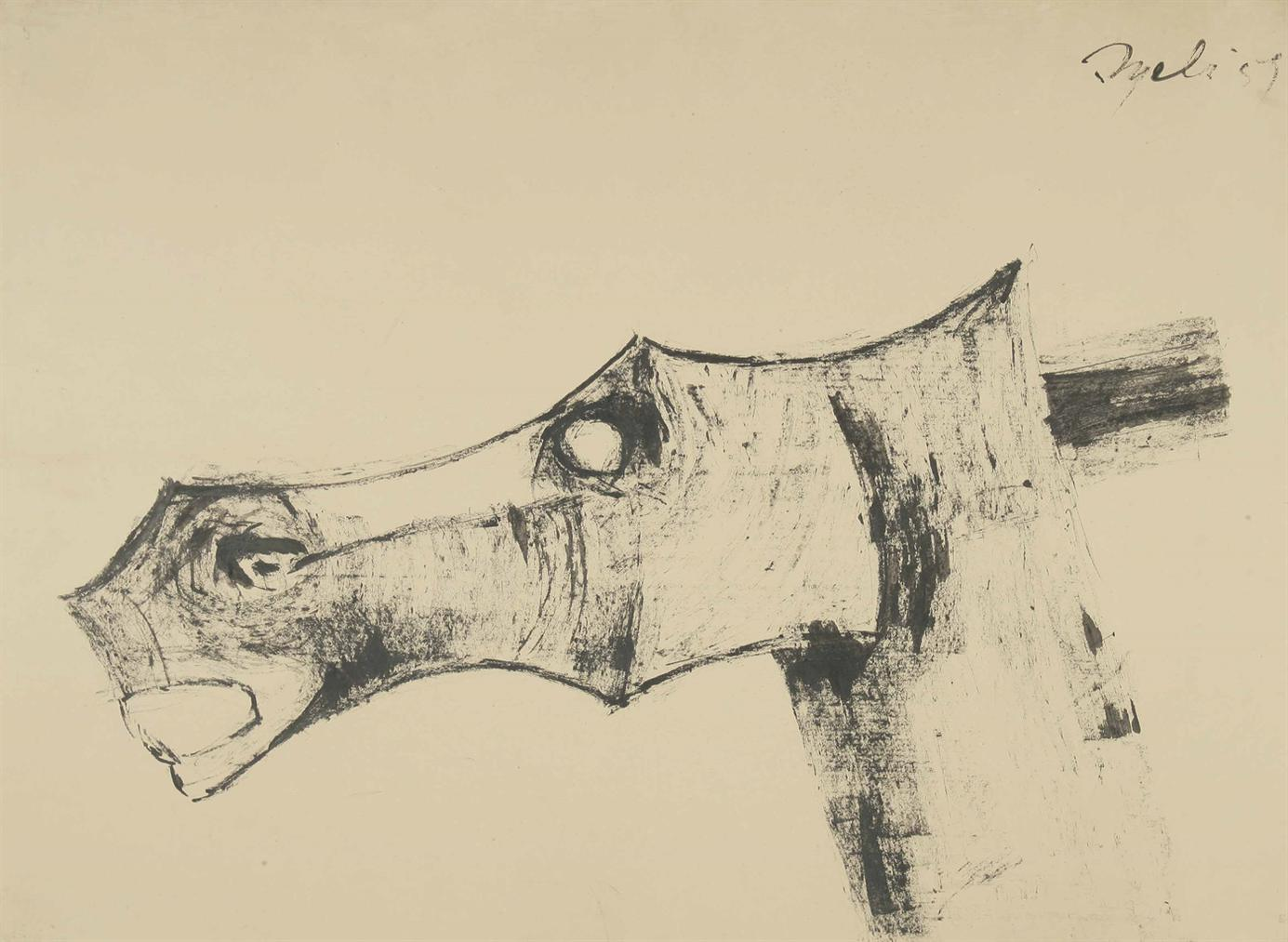 Tyeb Mehta-Head Of A Horse-1959