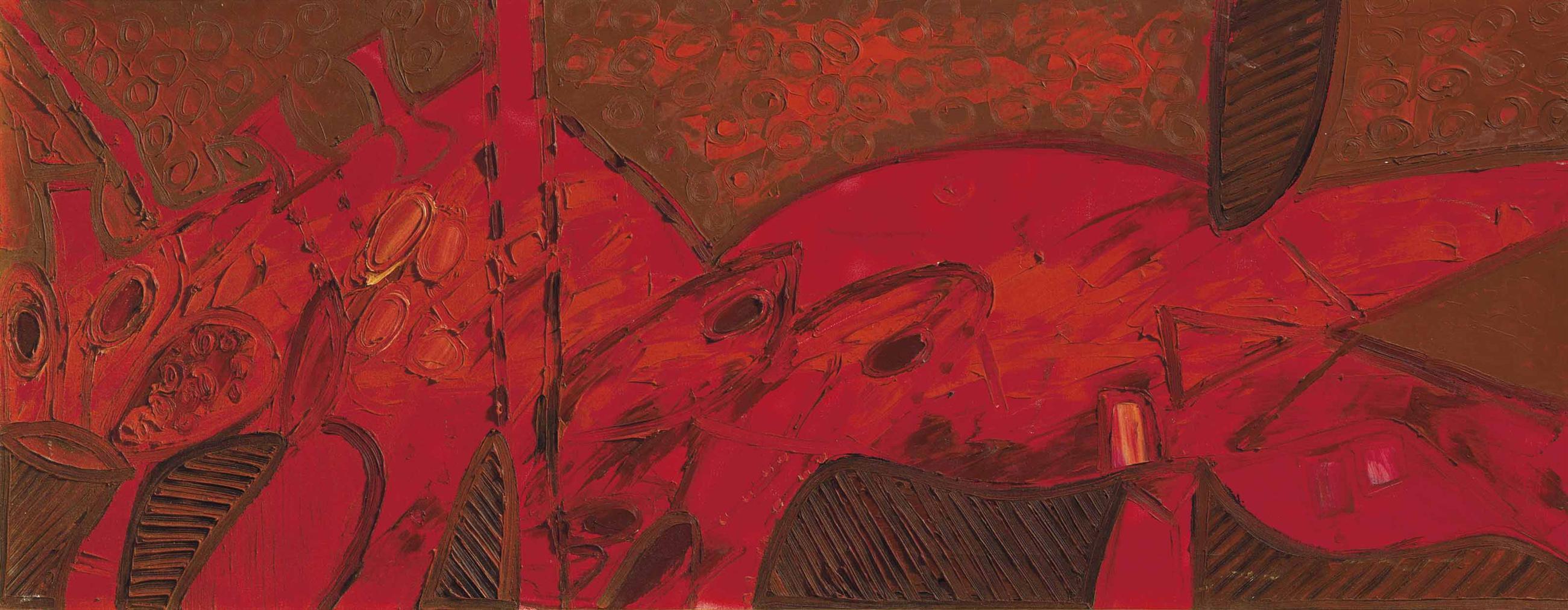 Francis Newton Souza-Red Dream-1966