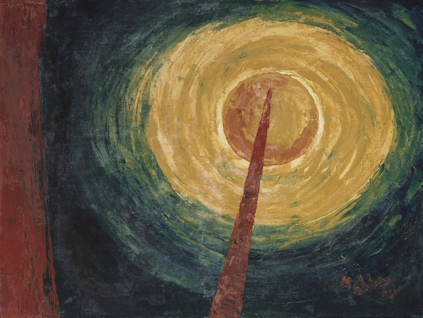 Kattingeri Krishna Hebbar - Untitled (Rocket Series)-1962