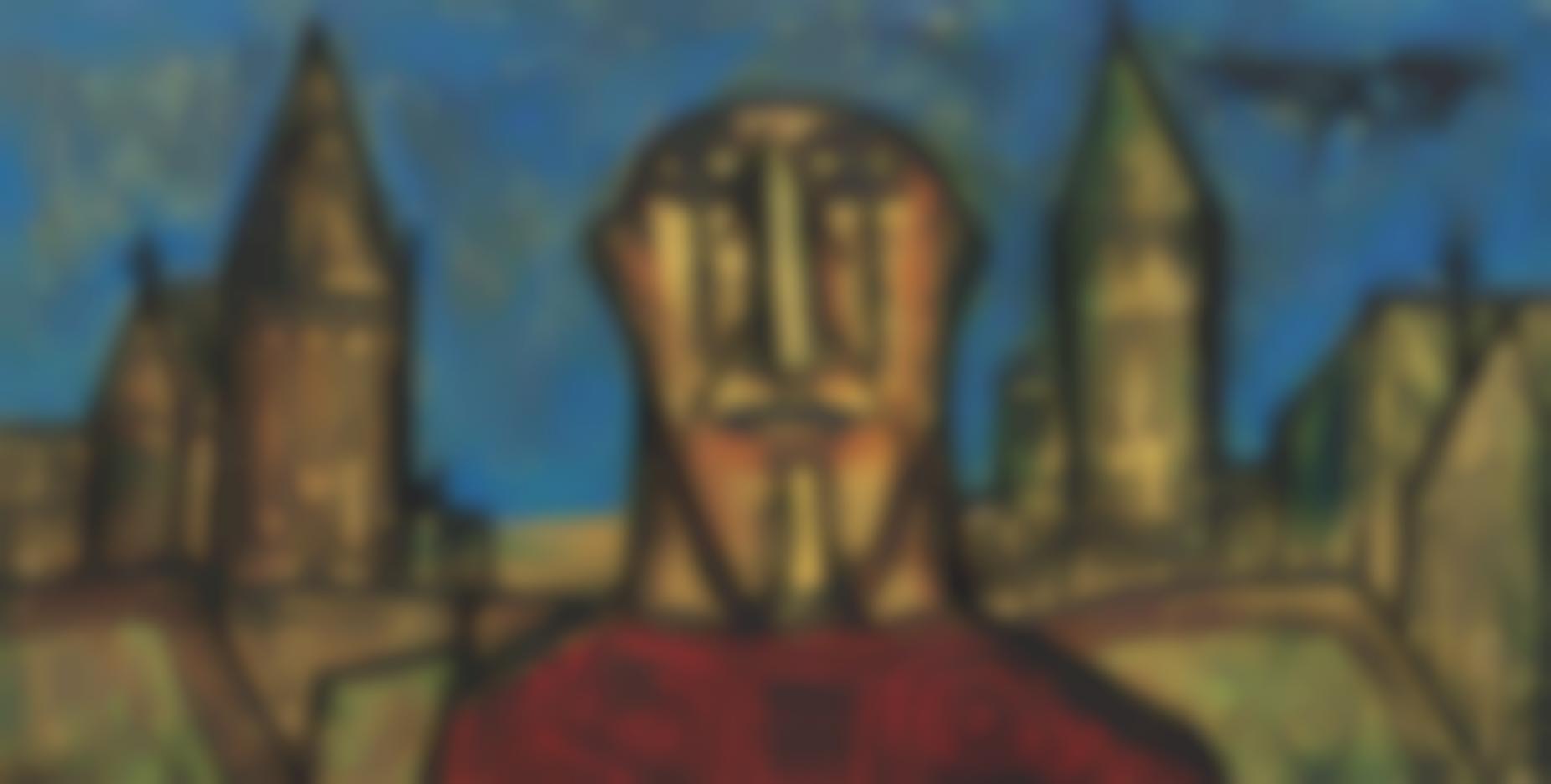 Francis Newton Souza-Head In A Landscape-1958