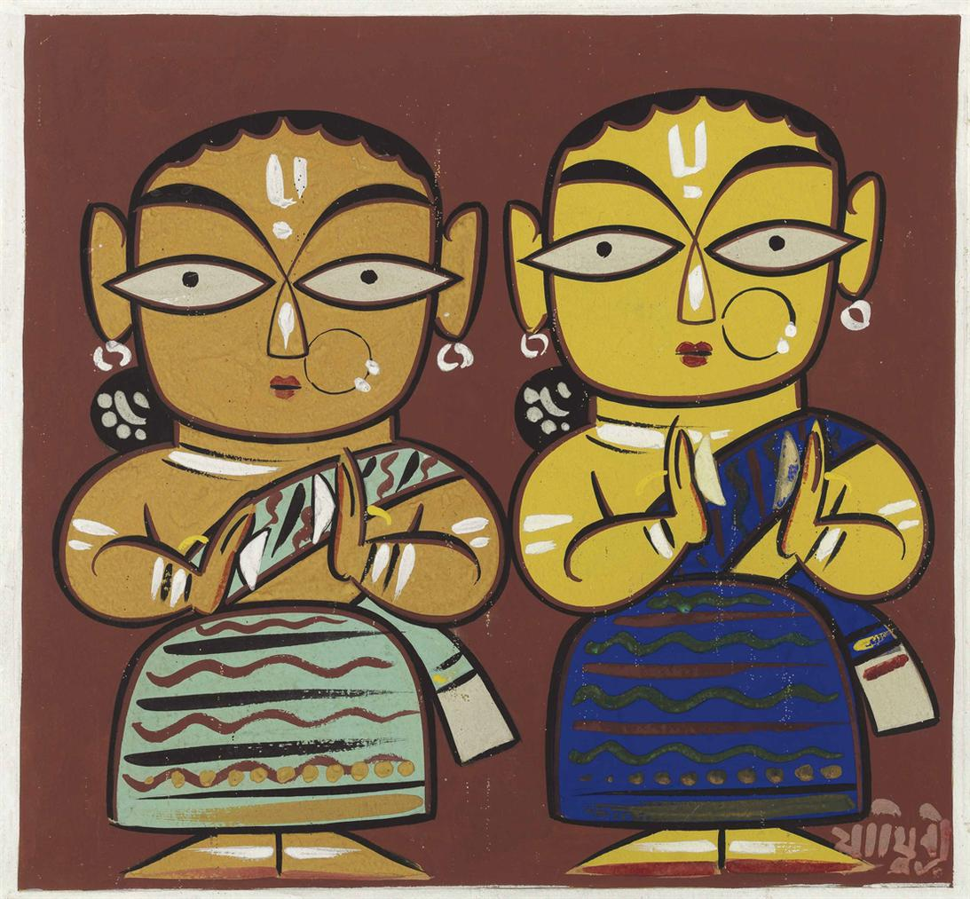 Jamini Roy - Untitled (Two Women)-
