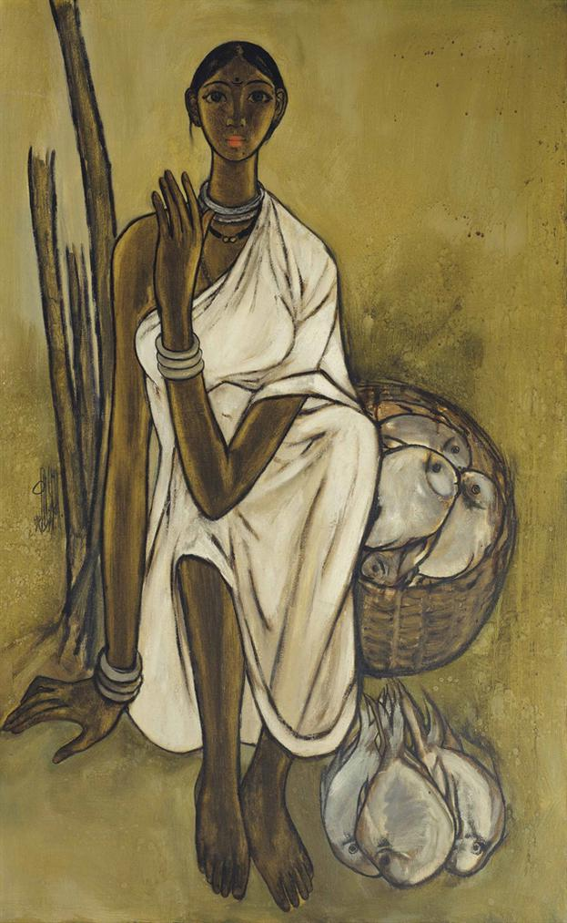 B. Prabha-Untitled (Fisherwoman)-1971