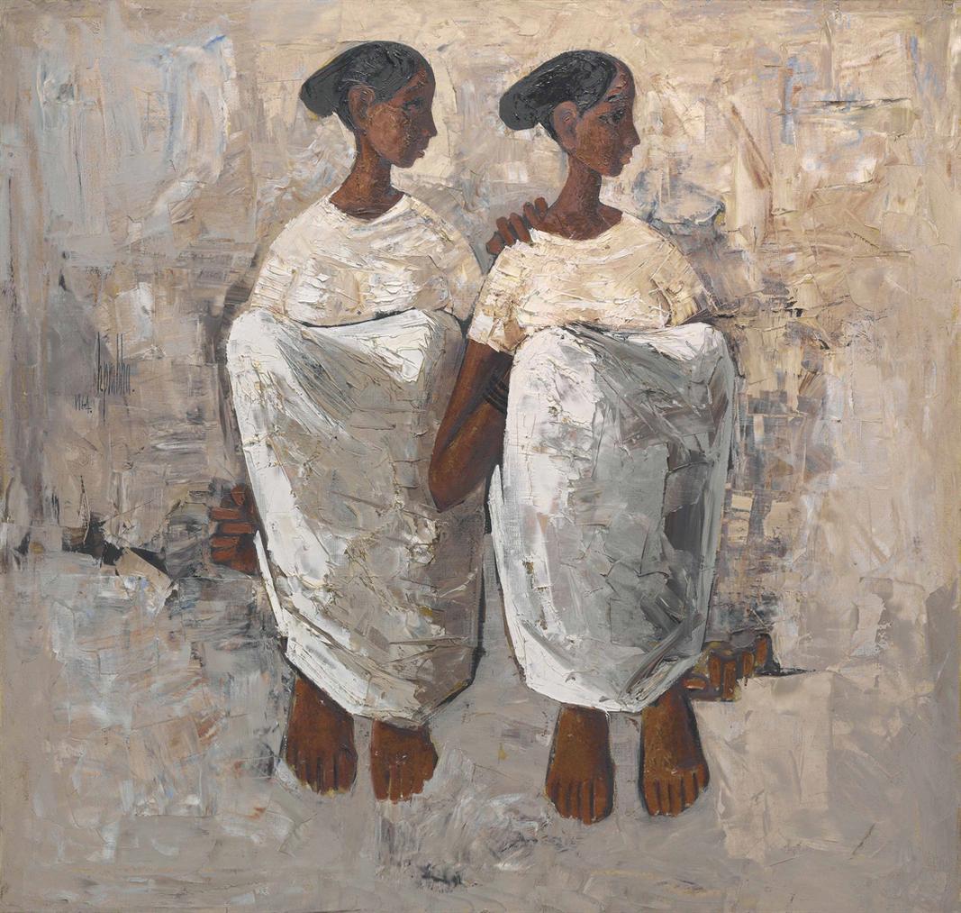 B. Prabha-Untitled (Two Women)-1964