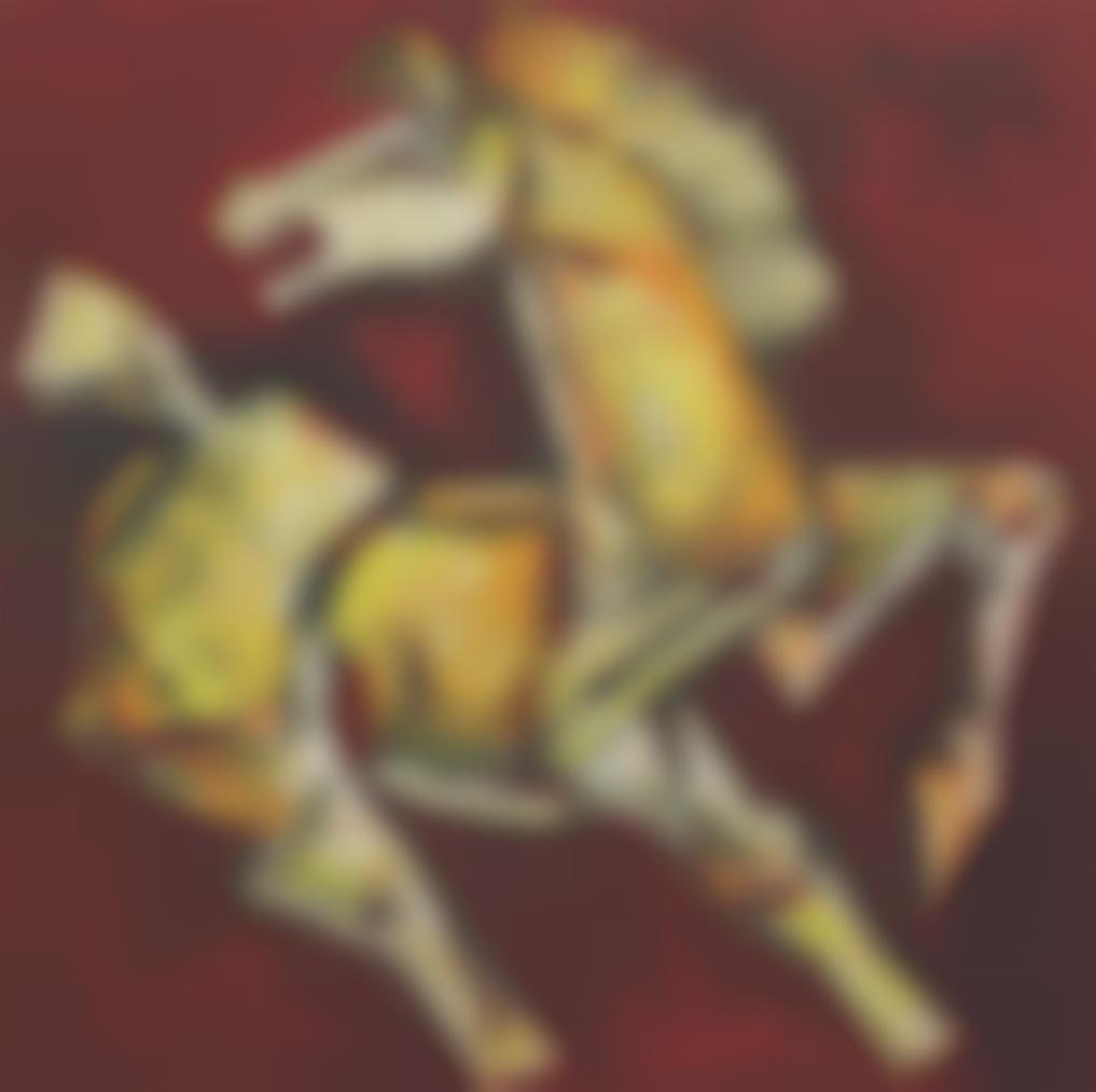 Maqbool Fida Husain-Untitled (Horse)-1983