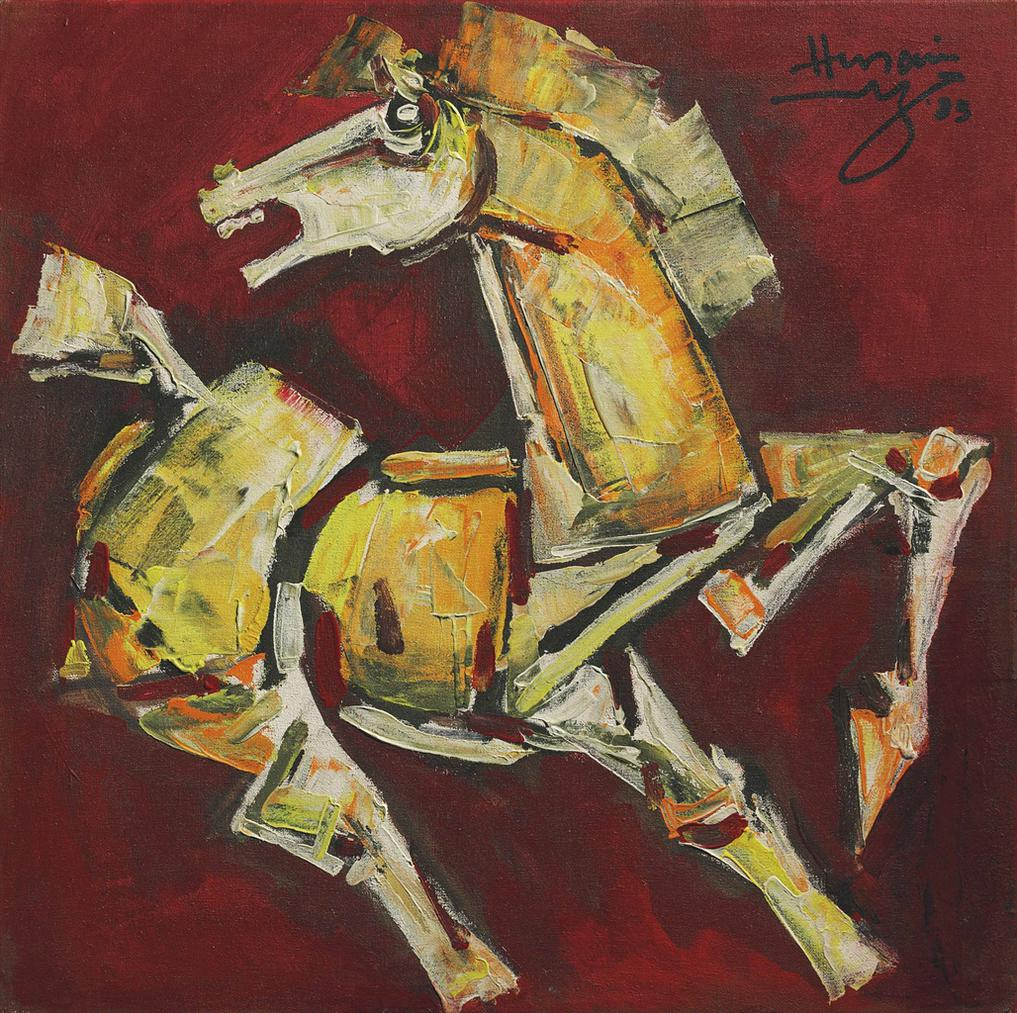 Maqbool Fida Husain-Untitled (Horse)-1983