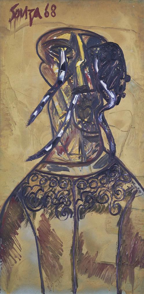 Francis Newton Souza-St. Stephen (Homage To Stephen Spender)-1968