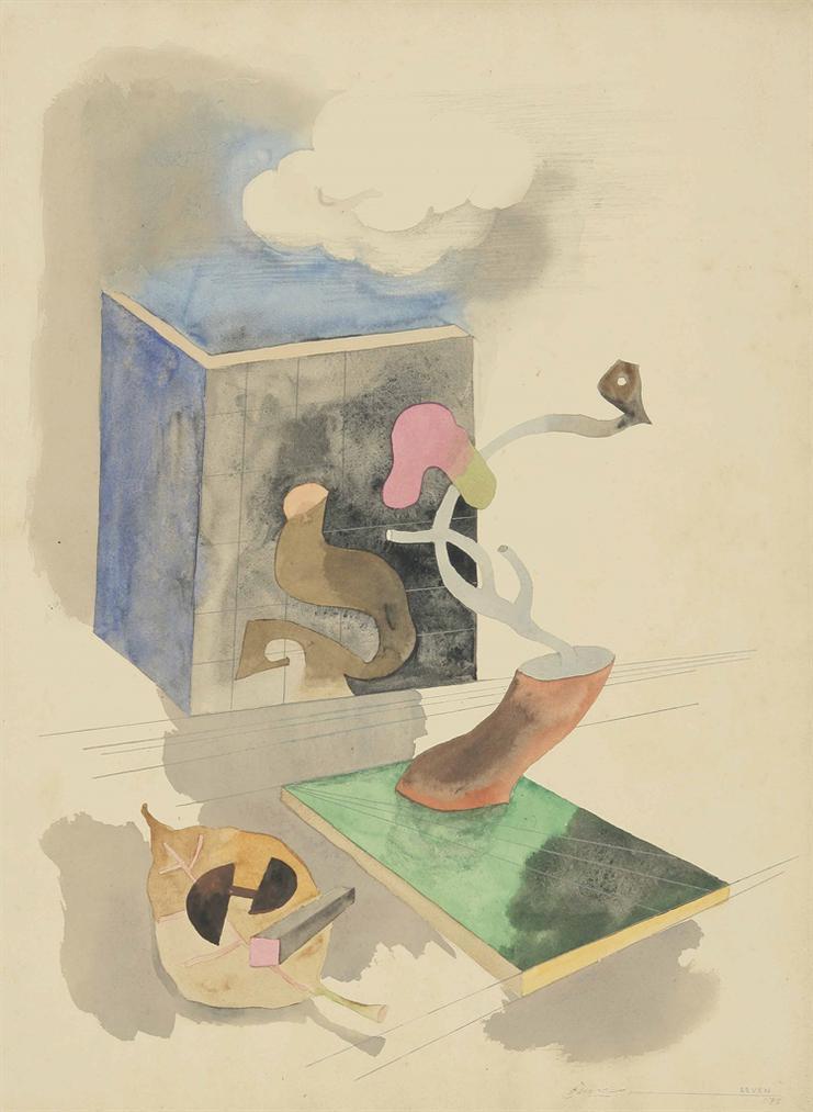 Maqbool Fida Husain-Untitled (Passage Through Human Space No. 7)-1975