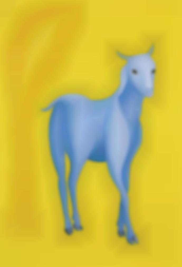 Manjit Bawa-Untitled (Goat And Tree)-2002