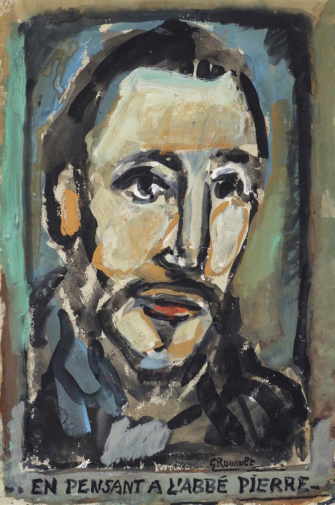 Georges Rouault-En Pensant A Labbe Pierre-1954