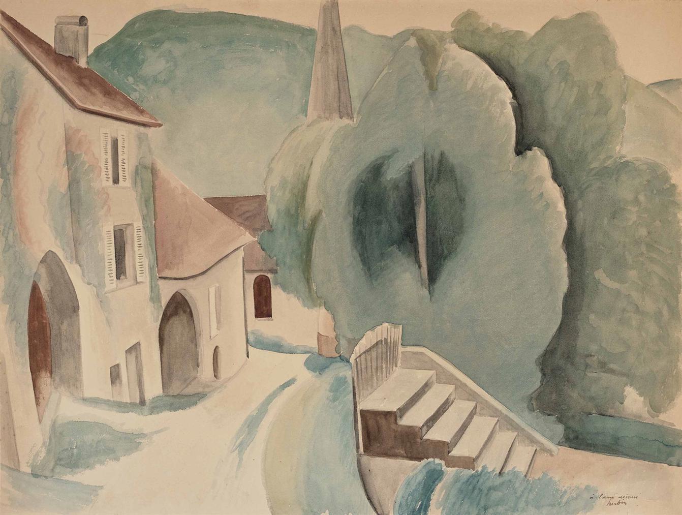 Auguste Herbin-Vue Dun Village-1922