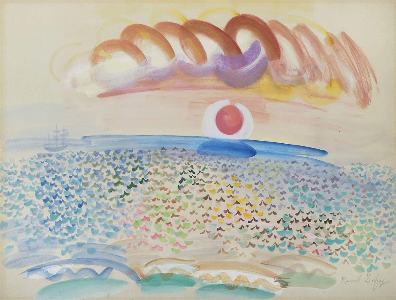 Raoul Dufy-Coucher De Soleil Sur La Mer-