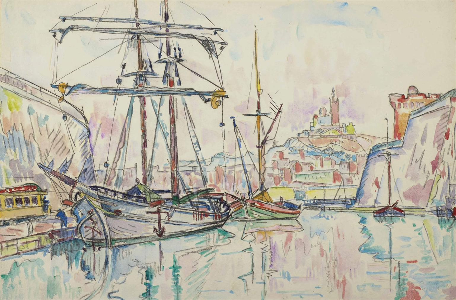 Paul Signac-Port De Marseille-