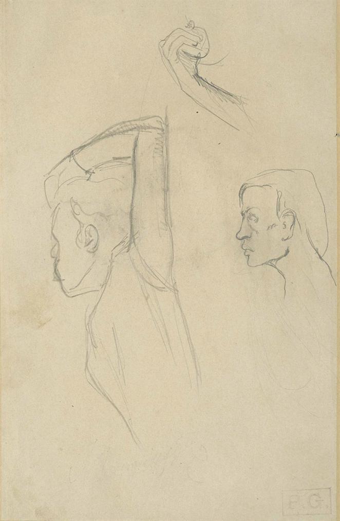 Paul Gauguin-Etude De Figures (Recto); Etude De Tetes (Verso)-